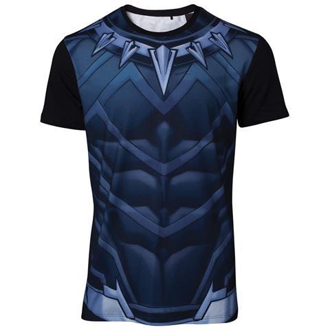 BIOWORLD Marvel - Sublimated Black Panther Black (T-Shirt Unisex Tg. S)