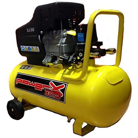 8f8bb20fde827 BRICOBRAVO - Compressore Lubrificato Olio 50lt Con Ruote 1.5kw 2hp Monofase  Manometri Ph050