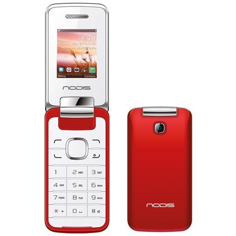 """NODIS NC-20 Rosso Dual Sim Display 1.77"""" +Slot MicroSD Bluetooth"""