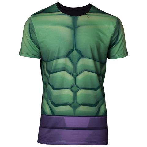 BIOWORLD Marvel - Sublimated Hulk Multicolor (T-Shirt Unisex Tg. M)