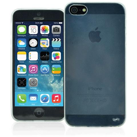 FONEX Inv Cover Ultra Sottile 0,2 mm in Morbido TPU per iPhone 5/5S / SE Colore Trasparente
