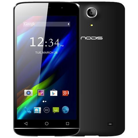 "NODIS ND-555 Alpha Nero 8 GB 4G/LTE Dual Sim Display 5.5"" HD Slot Micro SD Fotocamera 8 Mpx Android Italia"