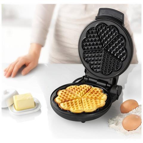 Macchina Da Waffle Wf2119 1000w Acciaio Nero