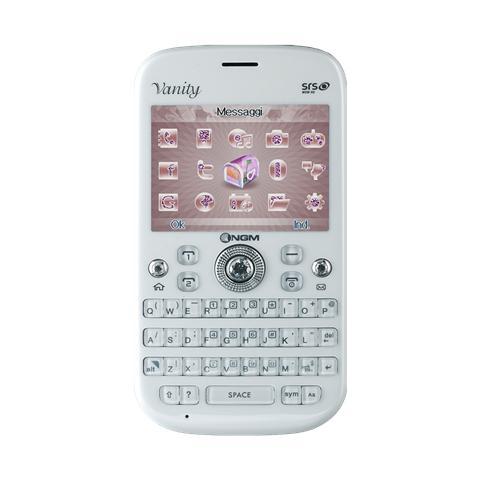 """NGM Vanity Qwerty Bianco Dual Sim Display 2.4"""" +Slot MicroSD Bluetooth Fotocamera 1.3Mpx"""