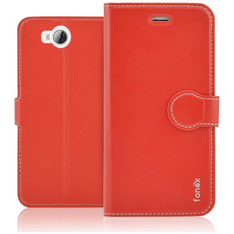 FONEX Identity Book Custodia a Libro per Huawei Y3 II Colore Rosso