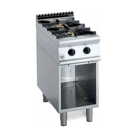 Cucina A Gas 2 Fuochi Su Base Aperta. 40x70x85h.