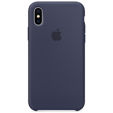 APPLE Cover in Silicone per iPhone X Colore Blu Notte