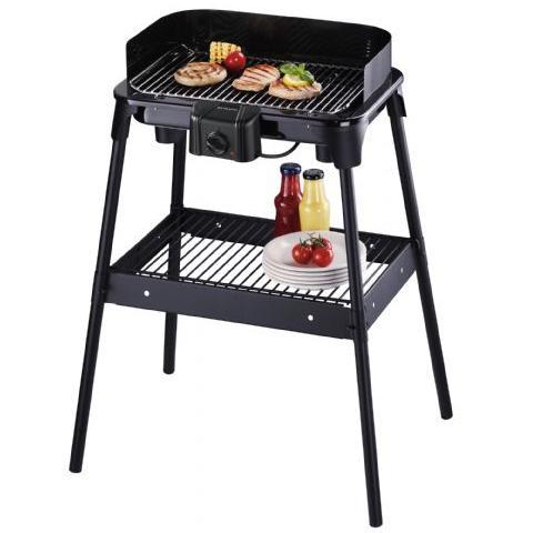 Griglia Barbecue con Piedi PG 2792 2500W Colore Nero