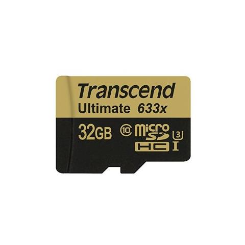 TRANSCEND Micro SDXC / SDHC UHS-I Speed Class 3 (U3) 633x 32 GB