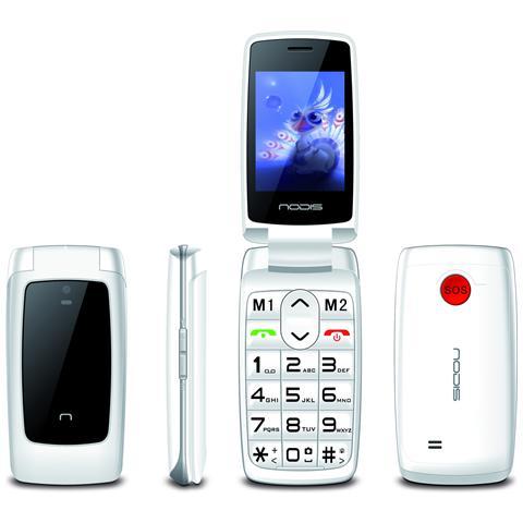 "NODIS SN-15 Bianco Dual Sim Display 2.4"" Wi-Fi Bluetooth +Slot MicroSD Fotocamera Tasto SOS"