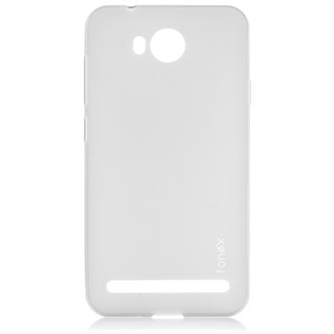 FONEX Pixel Cover Anti Urto 0,4 mm di Spessore in Morbido TPU con Retro Satinato per Huawei Y3 II Colore Trasparente