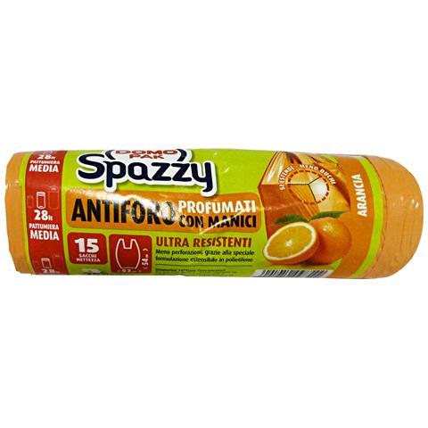Spazzy Sacchi 52x54 Antiforo Con Maniglie Arancia X 15 Pezzi Riordino