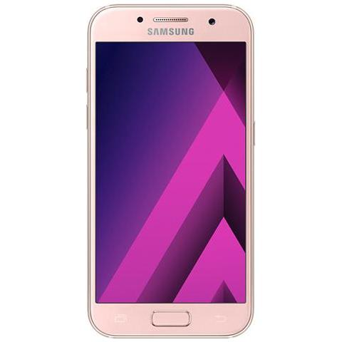 Galaxy A3 (2017) Rosa 16GB 4G / LTE Display 4.7'' HD Slot MicroSD Fotocamera 13Mpx Android - Europa