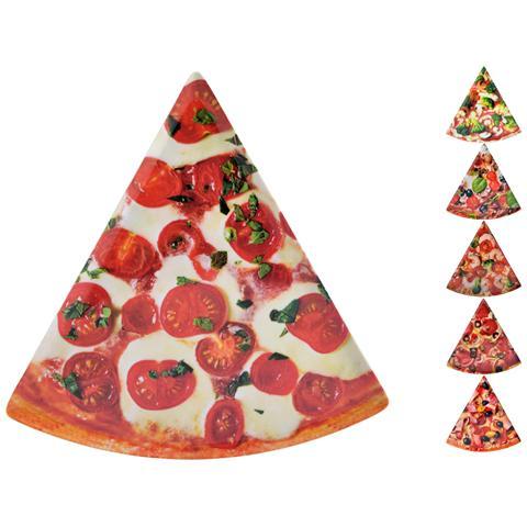 Set 6 Piatti Pizza Melamina Triang Ass Cm22x22 Stoviglie