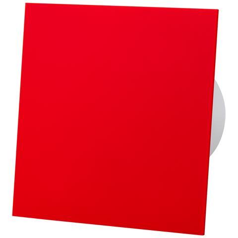 Pannello Frontale In Vetro Acrilico Rosso Ventilatore Estrattore Standard Da 100 Mm Per Ve...
