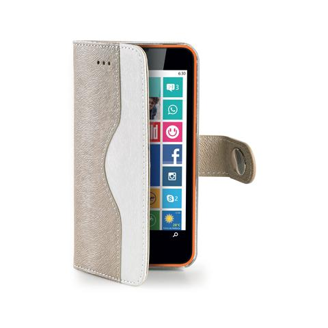 CELLY gold wallet onda case for lumia 630