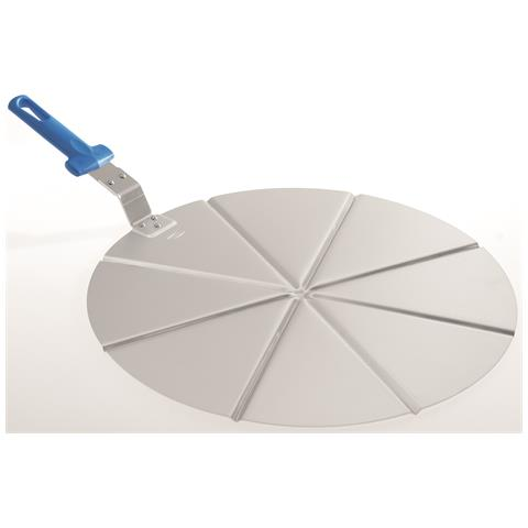 Vassoio Per Pizza Di Gimetal Alluminio 8 Spicchi Manico Non Ricambiabile Diam. 45 Cm