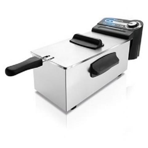 Friggitrice Professionale Capacità 3 Litri 2100 Watt Colore Acciaio Inox