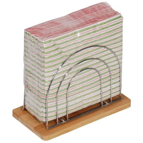 Porta Tovaglioli Supporto In Bamboo Mk Madrid 19 X 10 X 15 Cm