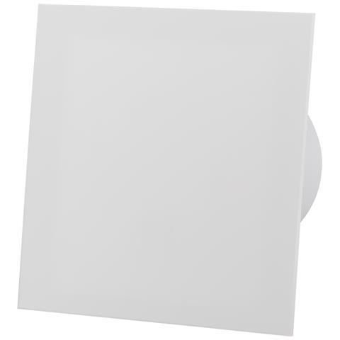 Pannello Frontale In Vetro Acrilico Bianco Opaco Ventilatore Estrattore Standard Da 100 Mm...