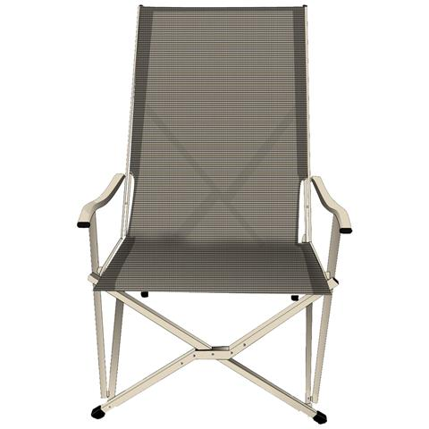 Summer Sling Chair, Grigio, Poliestere, 3,36 kg