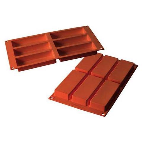 Stampo slim 6 cavità 12x5cm classic terracotta silicone