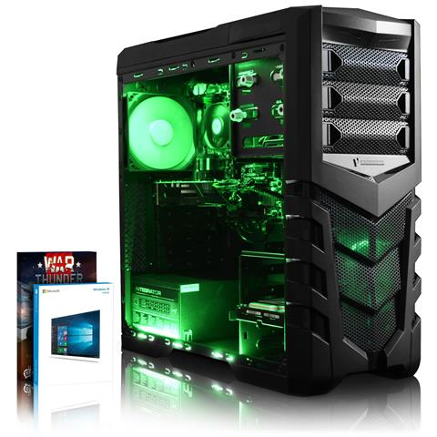 Image of Agile 19 Gamer Pc - 4,0ghz Amd 4-core Cpu, Gt 710, Desktop Gaming Pc Windows 10, (fx Quad Core Processore, Nvidia Geforce Gt 710 Scheda Grafica, 16gb Memoria Ram, 1tb Hdd, Caso Cit Vanquish Verde Gaming)
