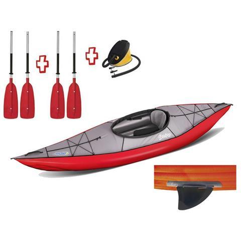 Canoa Gonfiabile Swing 1 Rosso Con Pinna 043910-r (5c / 11c) + 1 Pompa + 1 Pagaia Divisibi...