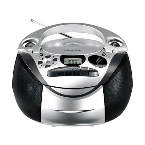 GRUNDIG Radio Portatile con Lettore CD GDS0710 - Nero / Argento