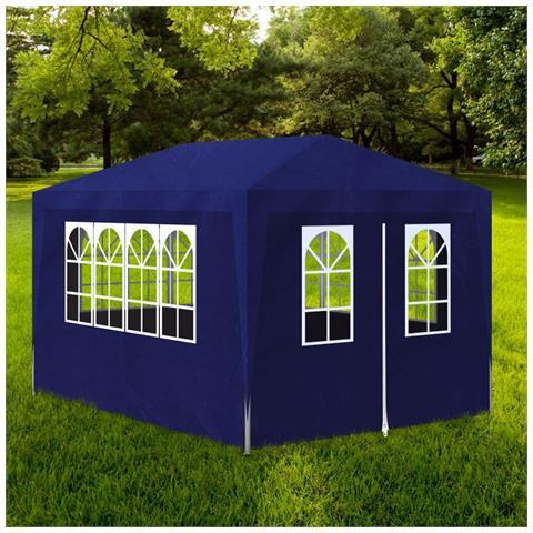 Gazebo da giardino blu Dimensione 3 x 4 m
