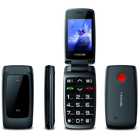 "NODIS SN-15 Nero Dual Sim Display 2.4"" Wi-Fi Bluetooth +Slot MicroSD Fotocamera Tasto SOS"