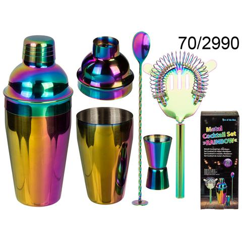 Set Cocktail Shaker In Metallo Rainbow