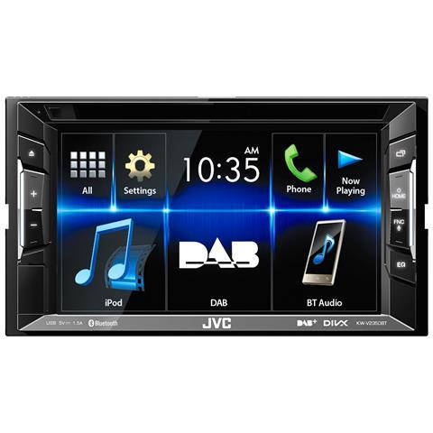 "JVC Sintolettore a 2 DIN KW-V235DBT Lettore CD / DVD Display 6,2"" Bluetooth DAB USB"