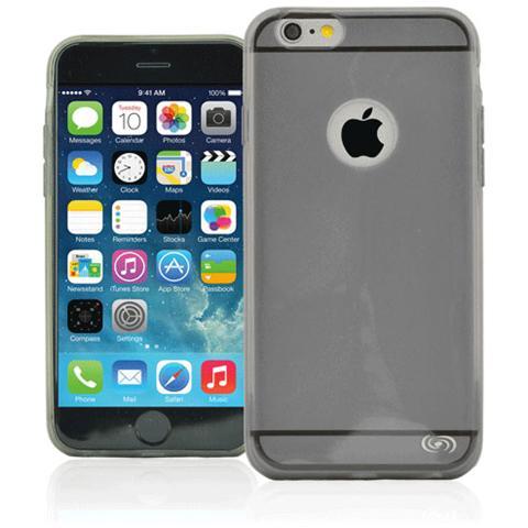 FONEX Inv Cover Ultra Sottile 0,2 mm in Morbido TPU per iPhone 6 Plus / 6S Plus Colore Nero Trasparente