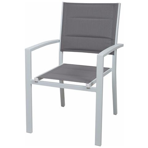Sedia Alluminio C / Text. Imbott