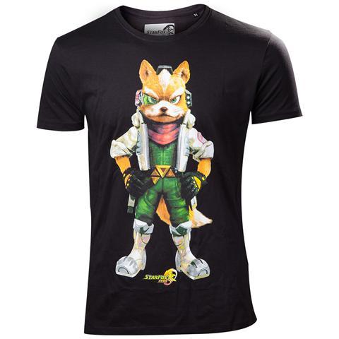 BIOWORLD Nintendo - Starfox Black (T-Shirt Unisex Tg. L)