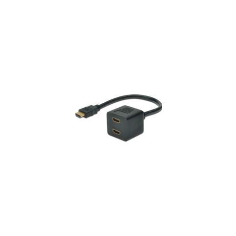 MICROCONNECT MONJK8, HDMI, 2 x HDMI, Maschio, Femmina, Dritto, Dritto