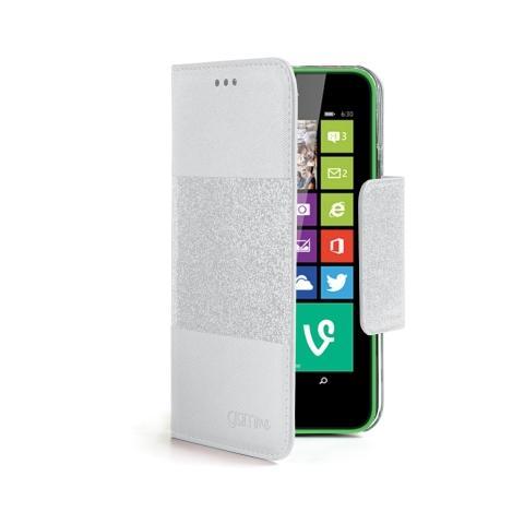 CELLY GLAGEL630WH Custodia Agenda per Nokia 630 Colore Bianco