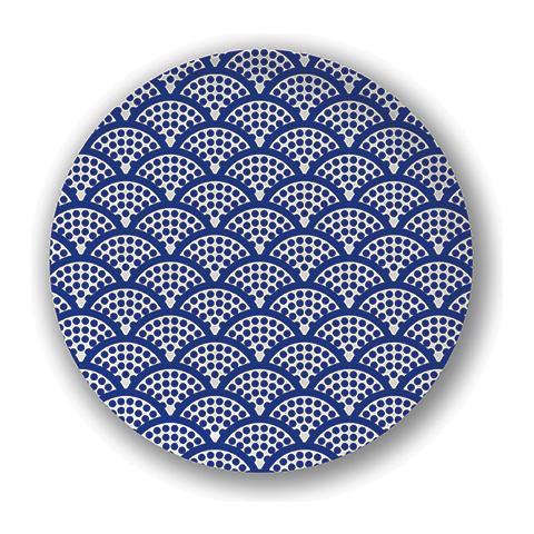 EXCELSA Piatto frutta Orientale blu cm. 21.