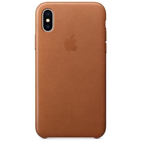APPLE Cover in Pelle per iPhone X Colore Cuoio