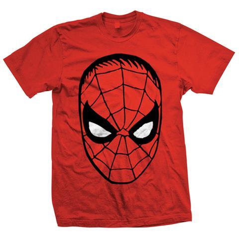 ROCK OFF Marvel Comics - Spider Man Big Head Rosso (T-Shirt Unisex Tg. M)