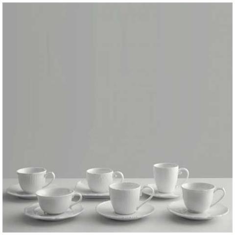 Tescoma 6 tazze caffe' amore porcellana bianca