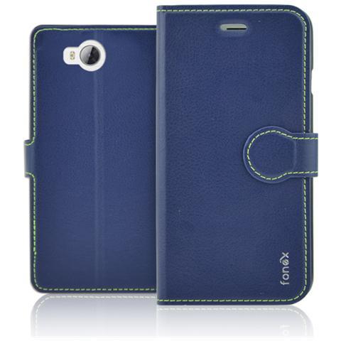 FONEX Identity Book Custodia a Libro per Huawei Y3 II Colore Blu