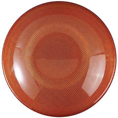 EXCELSA Piatto Fondo Diamond arancione centimetri 20