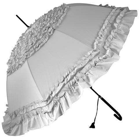 H&H Ombrello Automatico Elodie Grigio Cm100 Tempo Libero