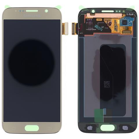 Image of Lcd Touch Screen E Vetro Completo Oro Gold Per Galaxy S6 G920