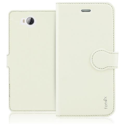 FONEX Identity Book Custodia a Libro per Huawei Y3 II Colore Bianco