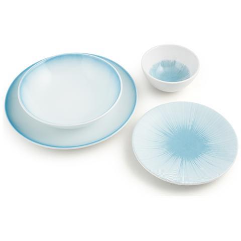H&H Piatto Ceramica Kami Azul Tavola Piano 27 Stoviglie