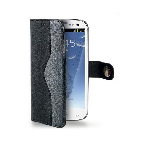 CELLY black wallet onda case for s3