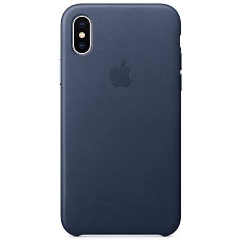 APPLE Cover in Pelle per iPhone X Colore Blu Notte